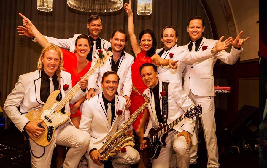 Wedding Sensations bandfoto met instrumenten